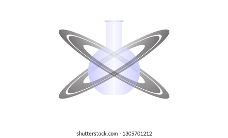 Science logo vector design. Science icon, flask
