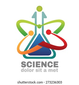 Science logo vector,Creative logo design template.