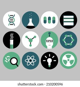 Science and physics icons