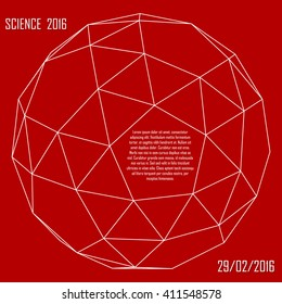Science poster. Geometry - platonic solid. Illustration for your event, presentation, science report, lecture, conference, convention, congress