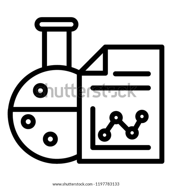 Science Report Lab Practicals Analyze Lab Stock Vector