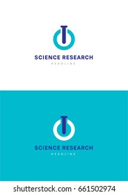 Science research logo template.