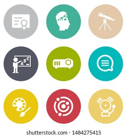 Science And School, vector school & Education icons set - student learning and graduation symbols