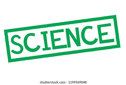 science stamp on white background. Sign, label, sticker.