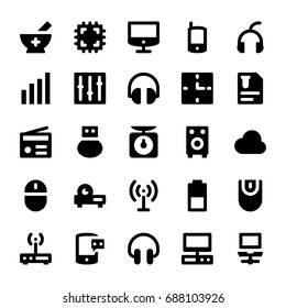 Science and Technology Glyph Vector Icons 6