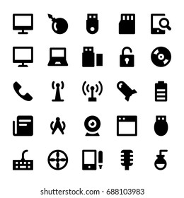 Science and Technology Glyph Vector Icons 3