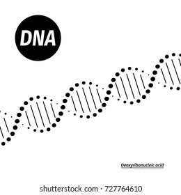 Science template, medical wallpaper or banner with a DNA molecules. Vector illustration.