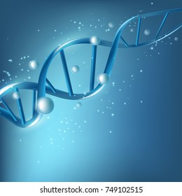 Science template for your design. DNA concept structure illustration.