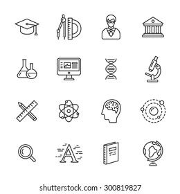Science thin line icons