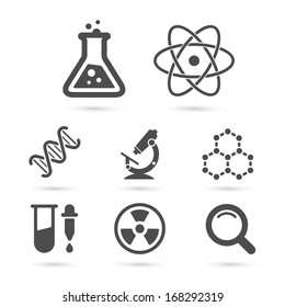 Science trendy icons pack for design. Vector illustration