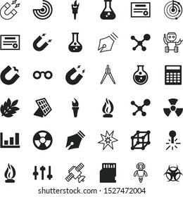 science vector icon set such as: maths, old, Body temperature, speech, biological, sales, s, drafting, warm, eye, growing, discovery, drug, leaf, eyeglasses, spark, biohazard, thermometer, chart