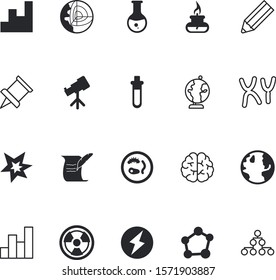 science vector icon set such as: dynamite, hazard, decisiontree, star, organ, nuclear, discover, layers, magnification, hormones, system, classification, smooth, round, geophysics, shiny, device