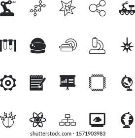 science vector icon set such as: intuition, manufacture, cooperation, evolution, factory, instrument, infographic, metal, solution, binary, blast, hat, stock, safety, board, growing, circuit, vehicle