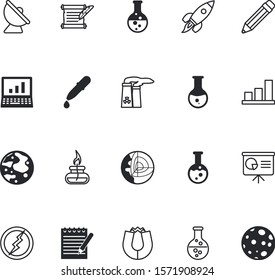 science vector icon set such as: torah, cute, green, communication, thunder, industry, increase, earthquake, network, tv, spark, bar, burner, magnet, pipe, desktop, attraction, quill, book, antenna