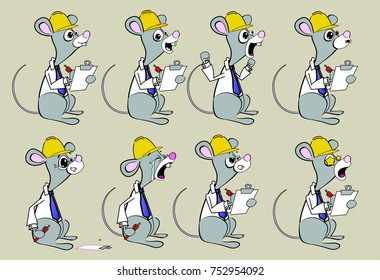 science worker mouse poses supervisor l