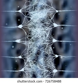 scientific background with neuron cells forming massive net