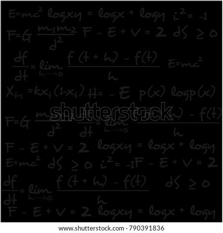 scientific equation chalk blackboard template stock vector royalty