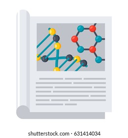 Scientific journal, vector illustration in flat style