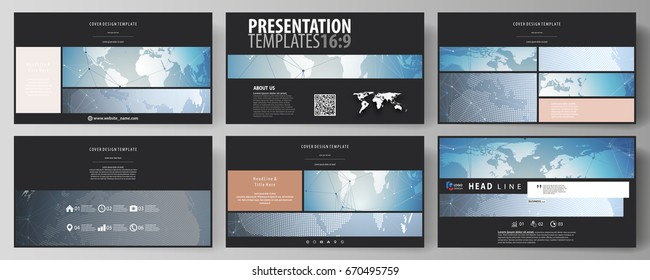 Scientific medical DNA research. Science or medical concept. The black colored minimalistic vector illustration of the editable layout of high definition presentation slides design templates