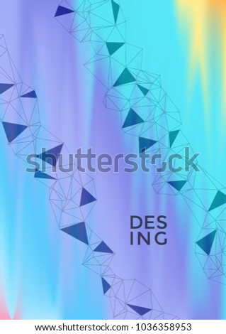 scientific report template global network connection stock vector