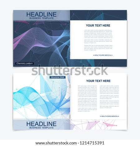 scientific templates square brochure magazine leaflet stock vector
