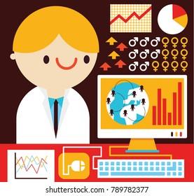 Scientist DOing BioStatistics