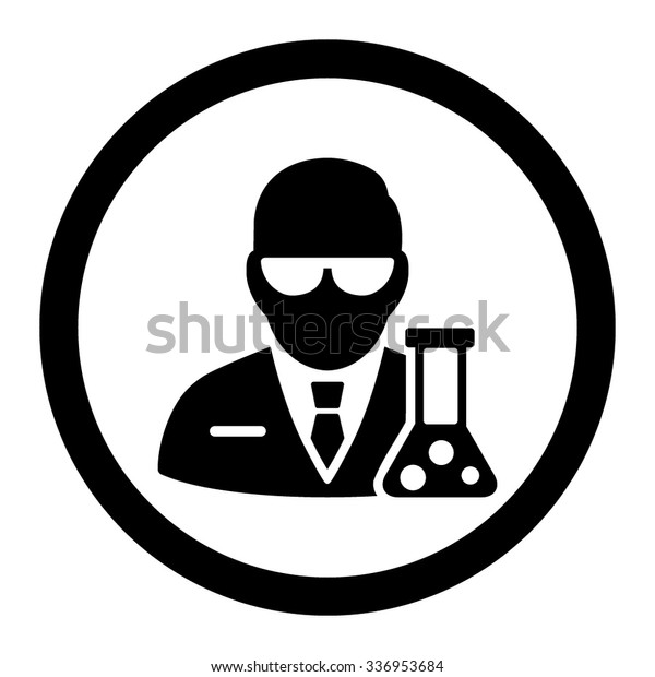 scientist vector icon style flat rounded stock vector royalty free 336953684 shutterstock