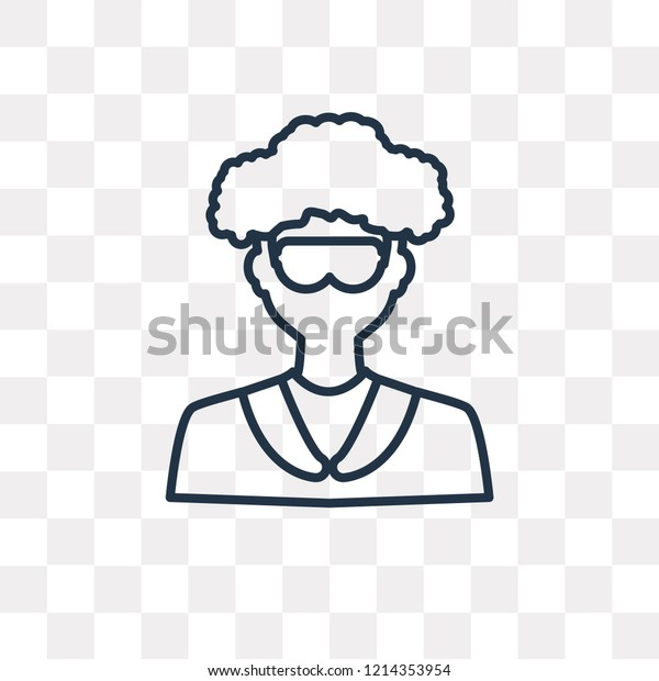 scientist vector outline icon isolated on stock vector royalty free 1214353954 shutterstock