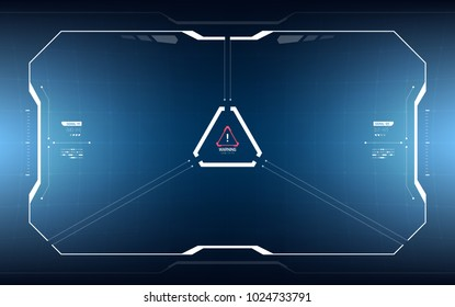 Sci-Fi Concept HUD Interface Screen. Virtual Reality View Display. Hologram Technology
