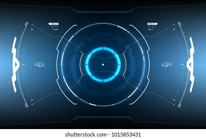 Sci-Fi Futuristic Glowing HUD Display. Vitrual Reality Technology Screen