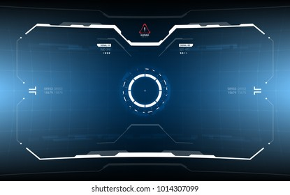 Sci-Fi Futuristic HUD Dashboard Display. Vitrual Reality Technology Screen
