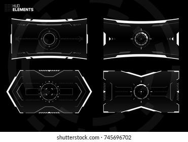 Sci-Fi Screen Design Template, Futuristic Technology Viewfinder