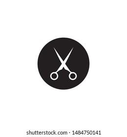 Scissor logo design vector template
