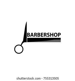Scissor Logo.Barber Logo.Barbershop Logo Vector Illustration