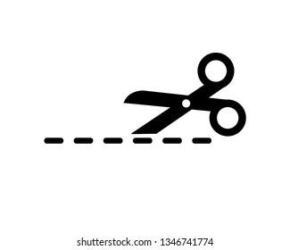 scissor vector icon template