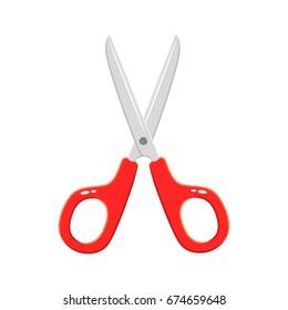 Scissors cartoon.