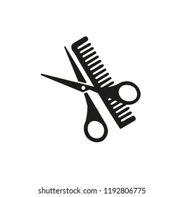 scissors and comb hairdresser