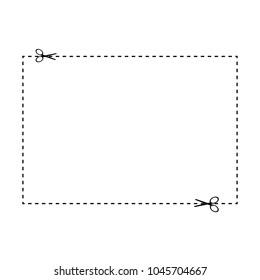 Scissors cut frame