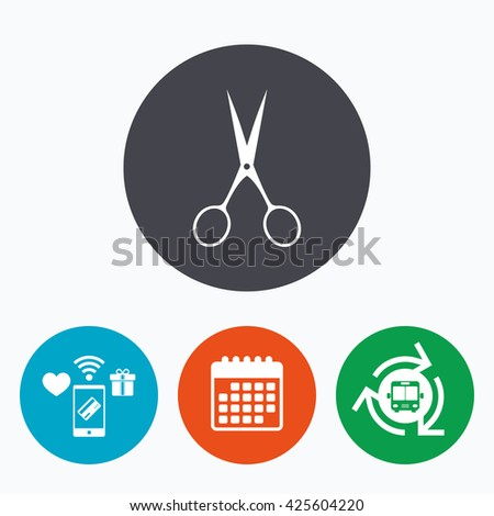 Scissors Hairdresser Sign Icon Tailor Symbol Stock Vector Royalty