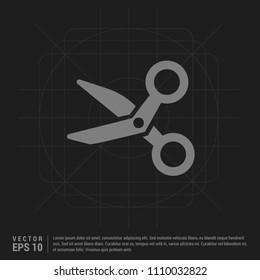 Scissors icon - Black Creative Background - Free vector icon