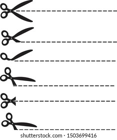 scissors icon on white background. flat style. scissors cut icon for your web site design, logo, app, UI. Different scissors cut symbol. scissors cut line sign.
