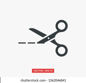 Scissors Icon Vector Illustration