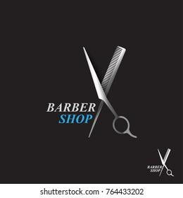 Scissors icon.barber shop.modern design.vector illustration.flat logo