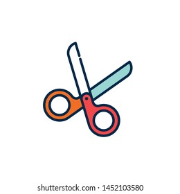 scissors icon-vector. perfect scissors  symbol. web design and mobile design. white background. premium quality scissors