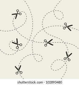 Scissors pattern. Vector illustration