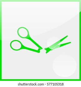 Scissors symbol.