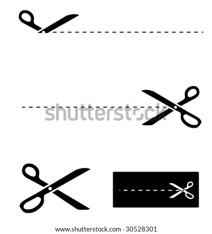 scissors template stock vector royalty free 30528301 shutterstock