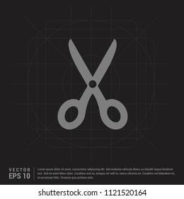 Scissors tool icon - Black Creative Background - Free vector icon