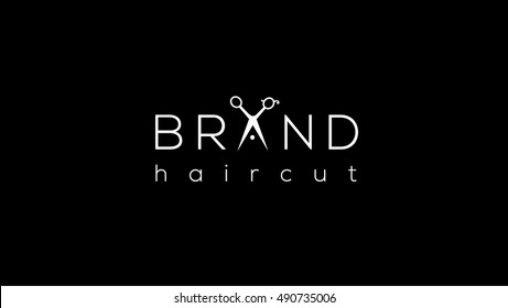 Scissors vector logo design template. Hair salon logo with scissors / vector illustration
