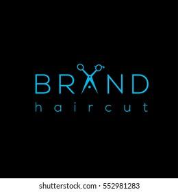 Scissors vector logo design template. Hair salon logo with scissors / vector illustration